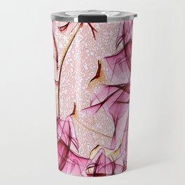 Blush rose red blossom Travel Mug