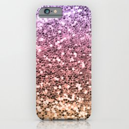Ombre Mermaid Glitter Colorful Pink Gold Girly Chic iPhone Case