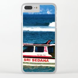 Bali - Boat Clear iPhone Case