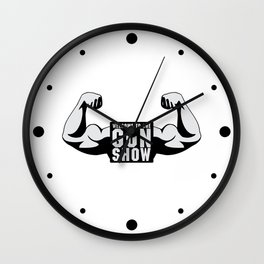 The Gun Show Gym Quote Wall Clock