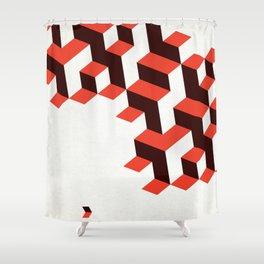 Modenist Negative Space Shower Curtain