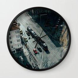 Moody cityscape Wall Clock