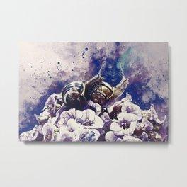 two snails make love wsfn Metal Print