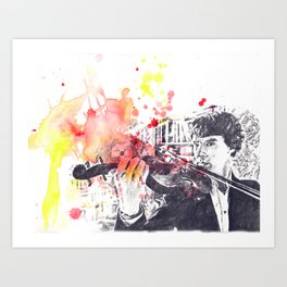 Benedict Cumberbatch As Sherlock Holmes Art Print