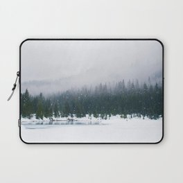 Evergreen Winter Forest (Color) Laptop Sleeve