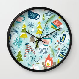 Snow Day Hooray! Wall Clock