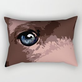 Hot chocolate labrador puppy Rectangular Pillow