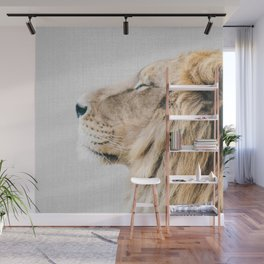 Lion Portrait - Colorful Wall Mural