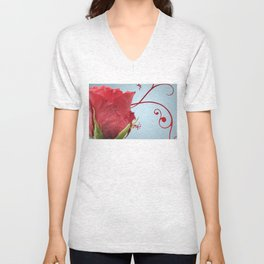 Rose, Reinvented Unisex V-Neck