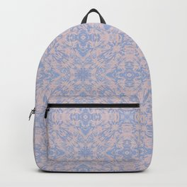 Light pink and blue tapestry 4635 Backpack