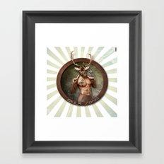 Deer Song Framed Art Print