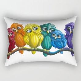 Rainbow Owls Rectangular Pillow