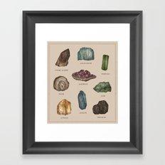 Gems and Minerals Framed Art Print