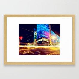 Bright City Lights Framed Art Print