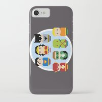 justice league iPhone & iPod Cases featuring Pixel Art - Justice League of America parody by Cloudsfactory