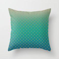 Polka Plankton Blue Throw Pillow