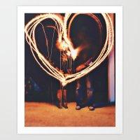 Sparks Fly Art Print