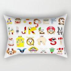 Super Mario Alphabet Rectangular Pillow