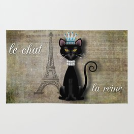 Le Chat, La Reine - The Cat, The Queen Rug