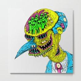 Monster Burns Metal Print