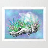 trex Art Prints featuring weed trex by raulovsky (Raúl Ramos Melo)