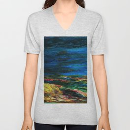 1912 Classical Masterpiece Stormy Sea Herbstmeer XIX by Emil Nolde Unisex V-Neck