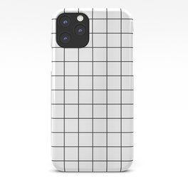 Grid Stripe Lines Black and White Minimalist Geometric iPhone Case
