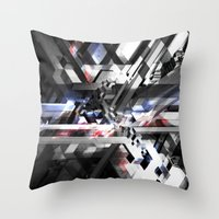 sonic Throw Pillows featuring Sonic by Subcon