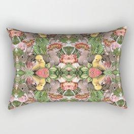 Bunny Cockatoo Kaleidoscope Rectangular Pillow
