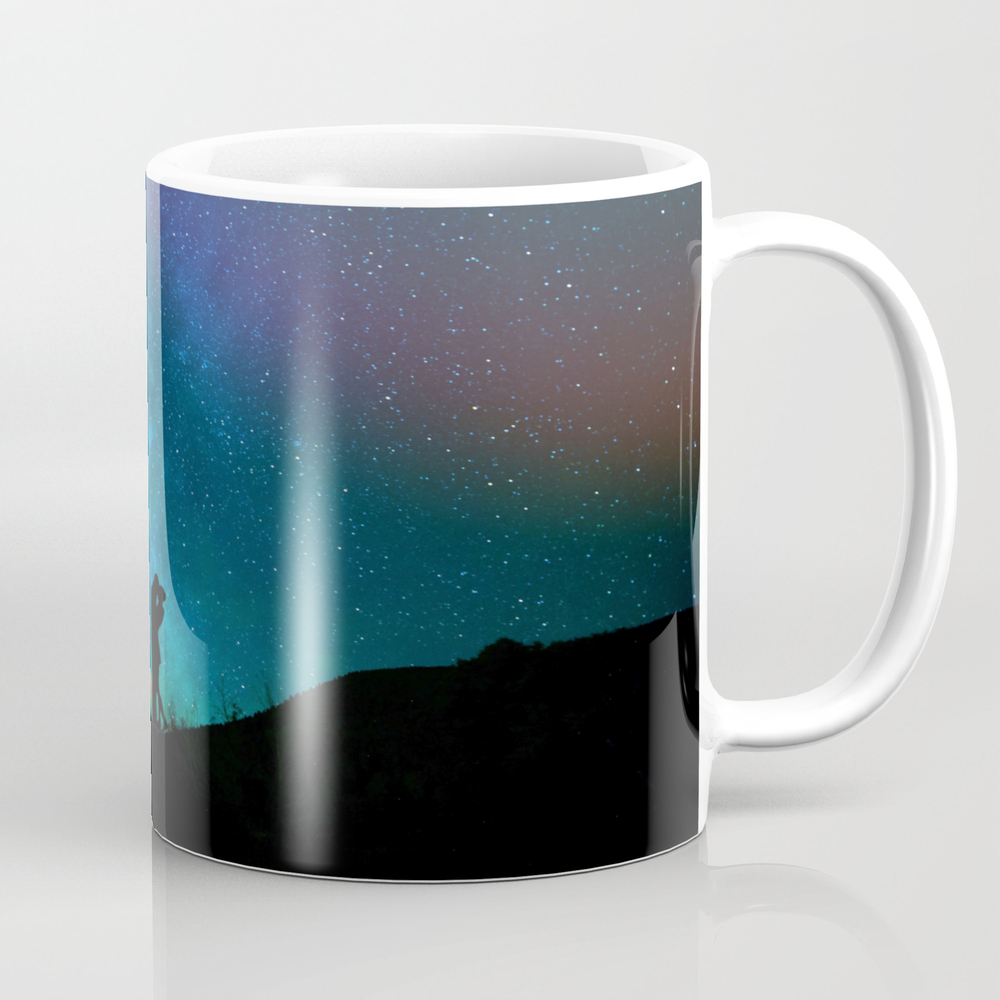 Silhouettes Of A Loving Couple Against A Starry Sk… Mug by Igordron MUG8333420