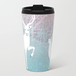 Winter In The White Woods Travel Mug