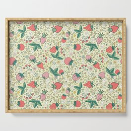 spring strawberries Serving Tray