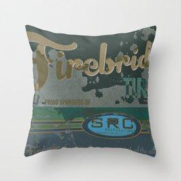 SRC Preparations Firebridge Tires Vintage Poster No1 Throw Pillow