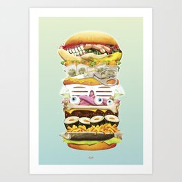 Eat the World Art Print