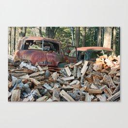 Still Life: Ed's Woodpile  Canvas Print