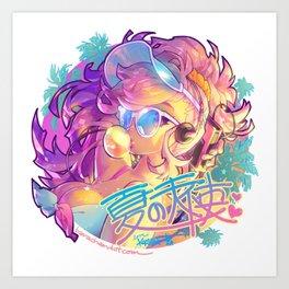 natsu Art Print