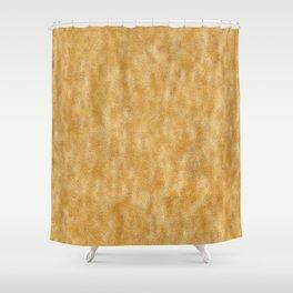 Mottled Gold Foil Shower Curtain