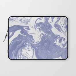 Nanami - spilled ink water pisces wave marble pattern marbling japanese watercolor Laptop Sleeve