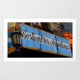 Argentine Culture Art Print