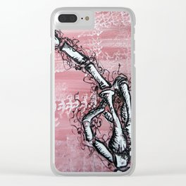 Sensitive Skelly hand Clear iPhone Case