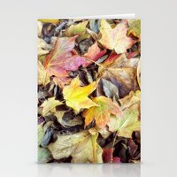 blanket Stationery Cards featuring autumn blanket by Bonnie Jakobsen-Martin