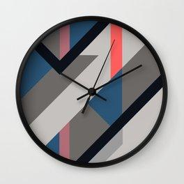 Modernist Dazzle Ship Camouflage Design Wall Clock