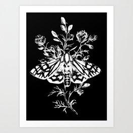 butterfly black Art Print