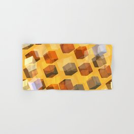 transparent cubes Hand & Bath Towel