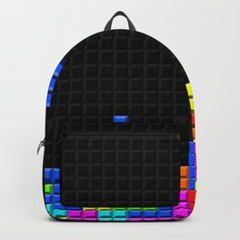 Retro Blocks Video Game Nostalgic Pattern Backpack