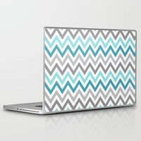 tina Laptop & iPad Skins featuring TINA CHEVRON 2 by JUNE blossom