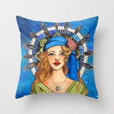 Gypsy Mandala Throw Pillow