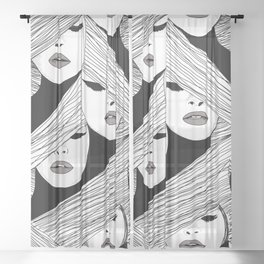 Audrey pattern Sheer Curtain