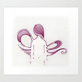 Slippery when wet Art Print