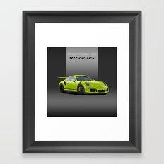 2016 Porsche 911 GT3 RS in Birch Green Framed Art Print